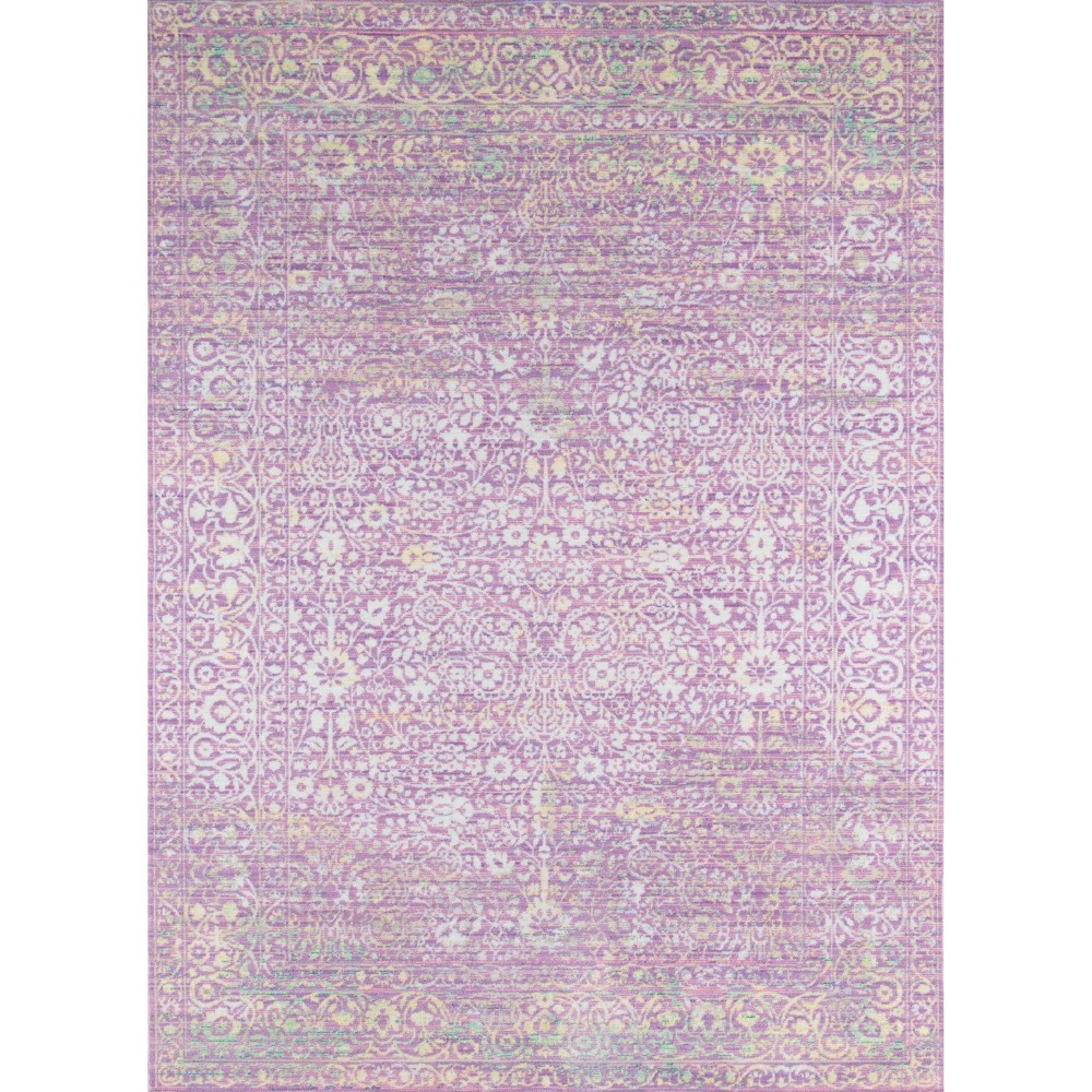 Lavender (Purple) Shapes Loomed Accent Rug 2'3