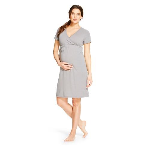 3c04366a9ba Eve Alexander Maternity Short Sleeve Empire Waist Sleep Shirt   Target