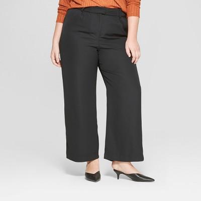 Women's Plus Size Wide Leg Trouser   Prologue Black by Prologue Black