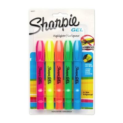 Sharpie 5pk Highlighters Gel Bullet Tip Multicolor