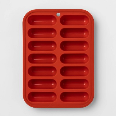 Silicone Ice Cube Tray Red - Room Essentials™