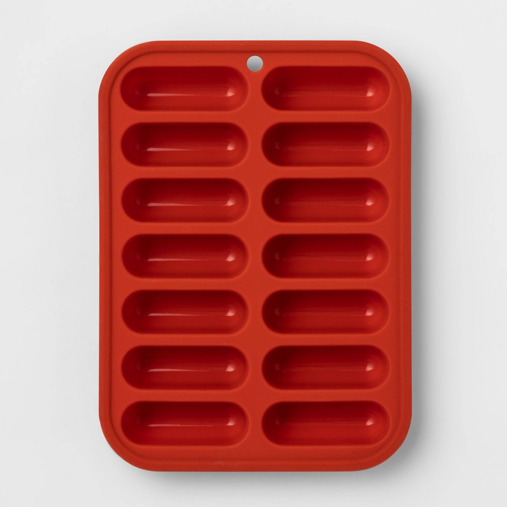 Image of Silicone Ice Cube Tray Red - Room Essentials