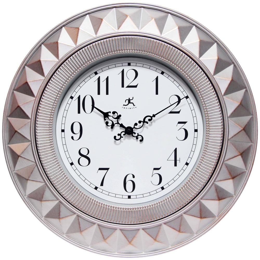 Image of Elegance Indoor Wall Clock Gray - Infinity Instruments
