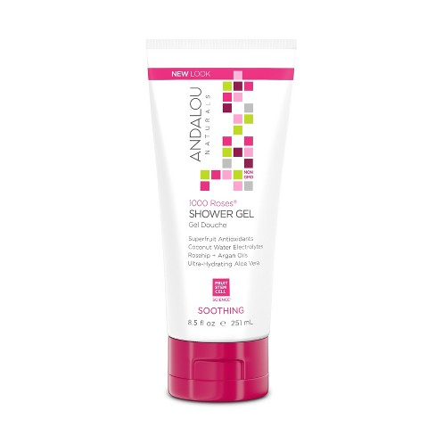 Andalou Naturals 1000 Roses Soothing Shower Gel - 8.5 Oz - image 1 of 1
