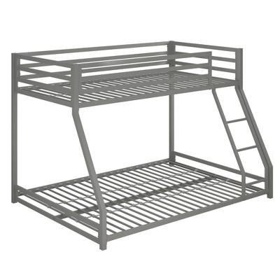 Twin/Full Max Metal Bunk Bed Silver - Room & Joy