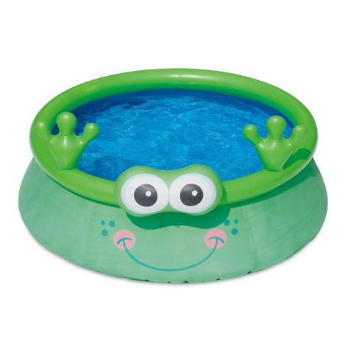 Summer Waves Inflatable 6 Foot Frog Character Quick Set Swimming Pool, Green - image 1 of 2
