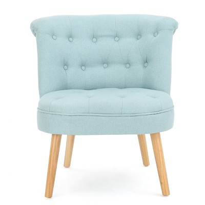Cicely Tufted Accent Chair - Light Blue - Christopher Knight Home