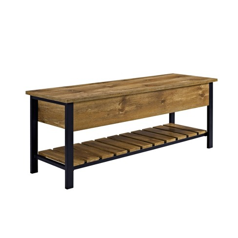 48 Open Top Storage Bench With Shoe, Bench With Shoe Storage