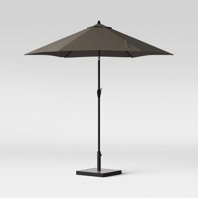 9' Round Patio Umbrella DuraSeason Fabric™ Gray - Ash Pole - Project 62™