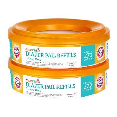 Munchkin Arm & Hammer Diaper Pail Refill Rings- 2pk/544ct