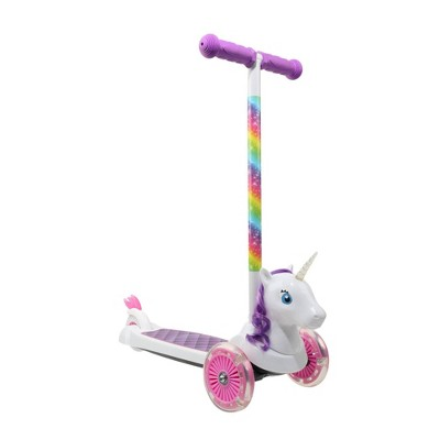 Sakar Unicorn 3D 3 Wheel Scooter - White/Pink/Purple