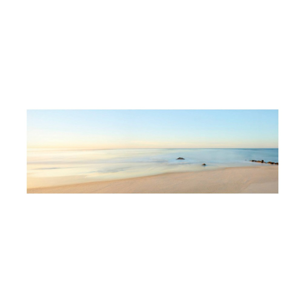 8 34 X 24 34 James Mcloughlin 39 Beachscape Panorama Ii 39 Unframed Wall Canvas Trademark Fine Art