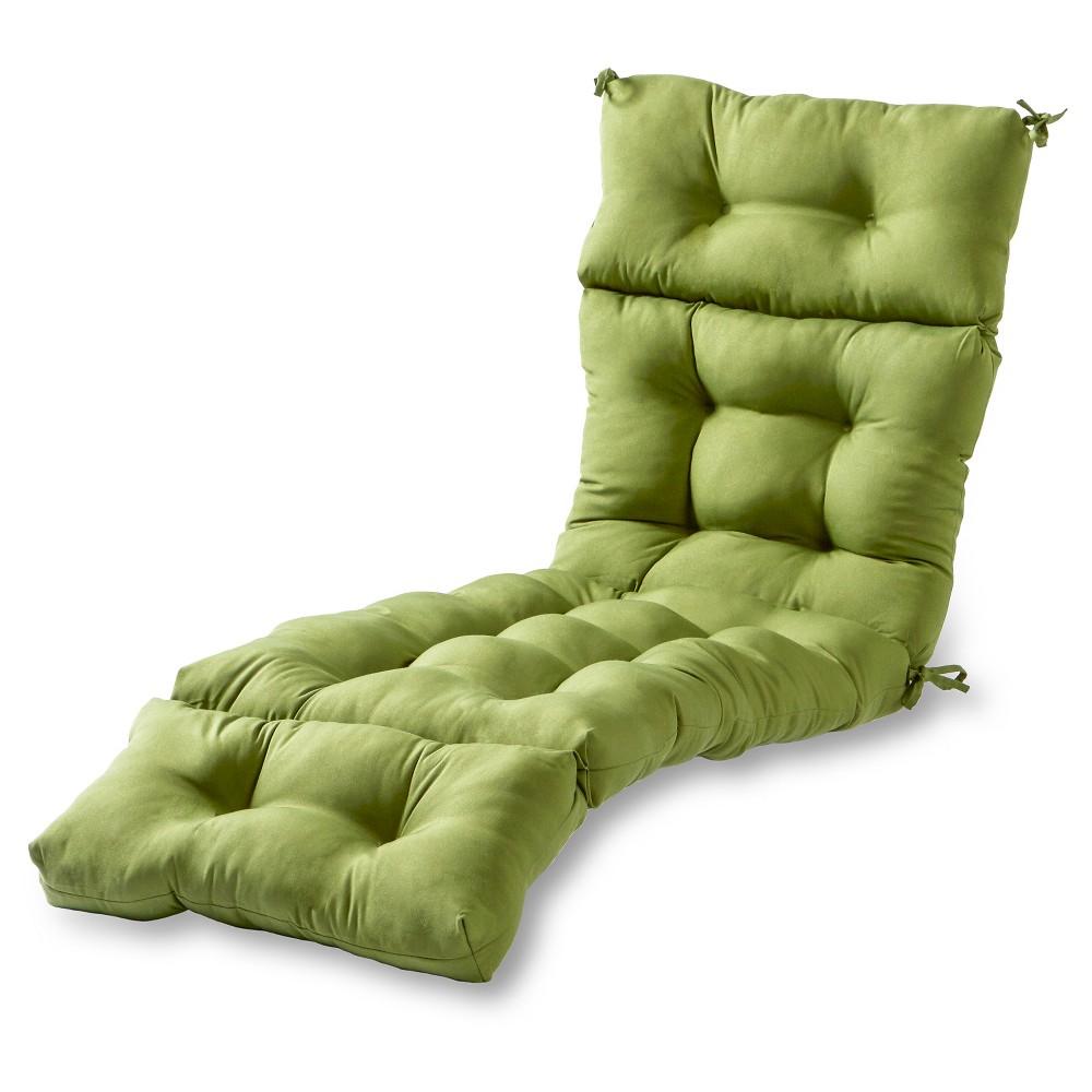 Solid Outdoor Chaise Lounge Cushion Hunter Kensington Garden