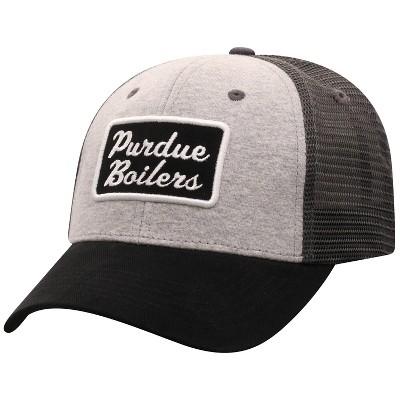 NCAA Purdue Boilermakers Men's Gray Cotton with Mesh Snapback Hat