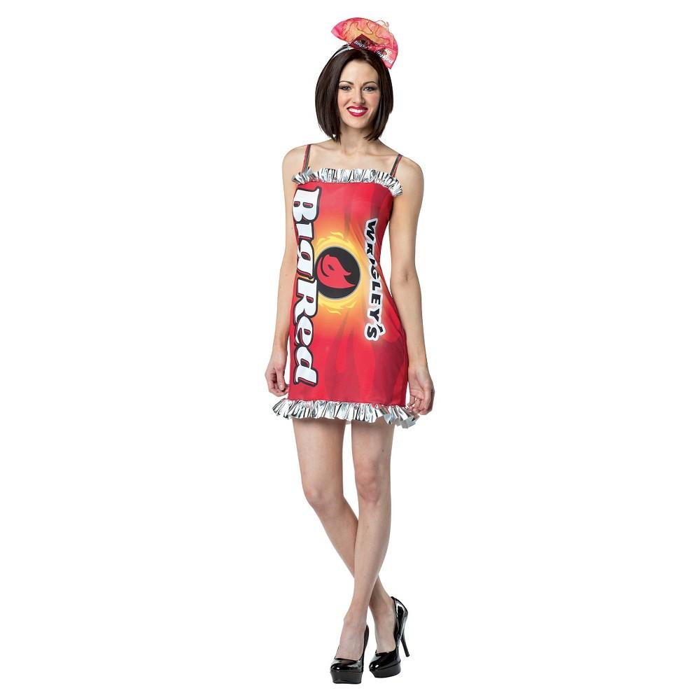 Girls' Big Wrigley's Dress Costume S/M, Red