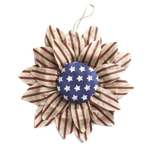 Lakeside Large Americana Wall Hanging Sunflower - Patriotic Home Accent Decor - image 1 of 4