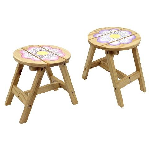 Fantasy Fields Magic Garden Outdoor Chairs Wood Set Of 2 Teamson