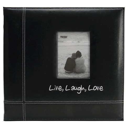 Live, Laugh & Love Embroidered Leatherette Album - Black - image 1 of 1