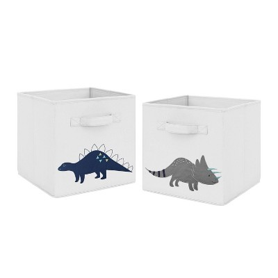 Mod Dinosaur Fabric Storage Bins - Sweet Jojo Designs