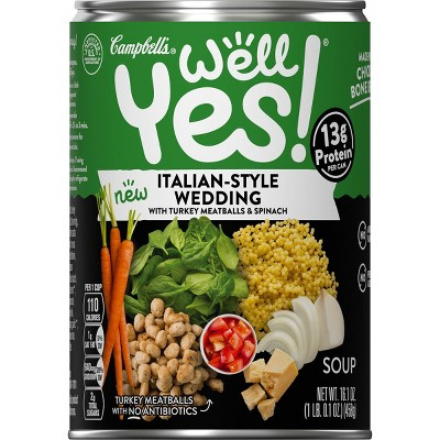 Campbell's Well Yes! Italian-Style Wedding Soup - 16.1oz