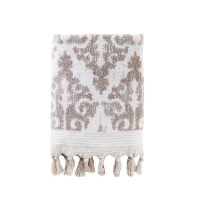 Mirage Fringe Bath Towel Dark Taupe - Saturday Knight Ltd.