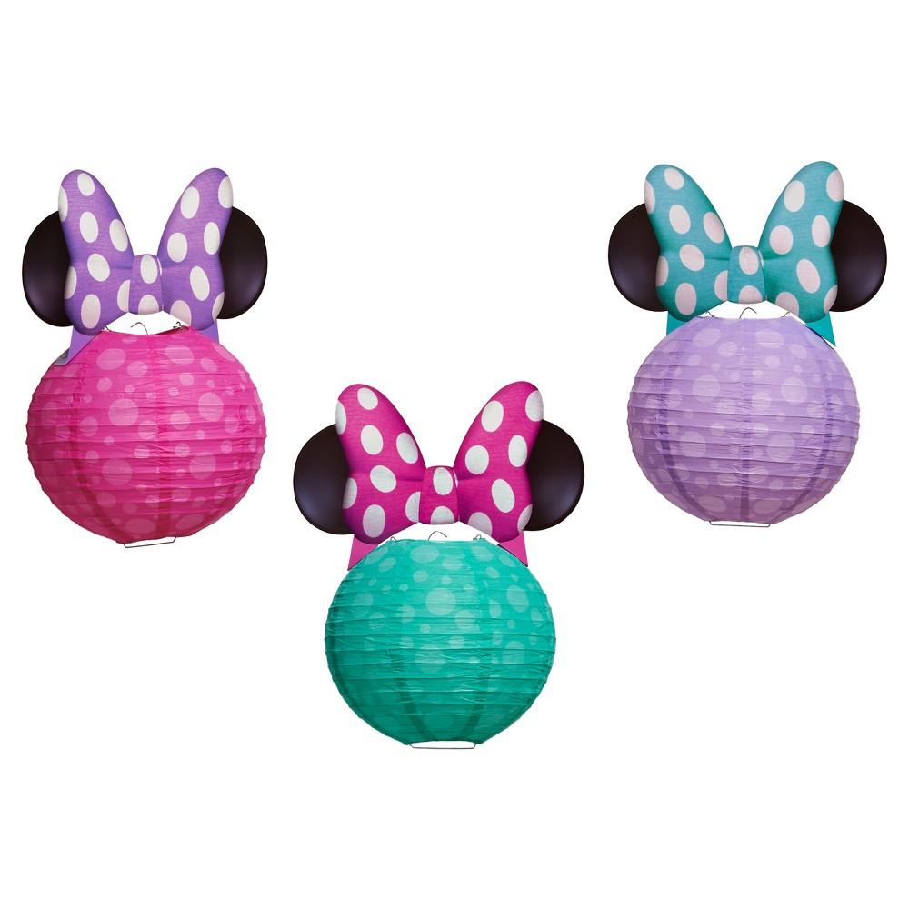 3 ct Minnie Mouse Paper Lantern