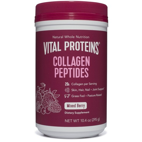 Vital Proteins Collagen Peptides Mixed Berry Dietary Supplements - 10oz - image 1 of 4