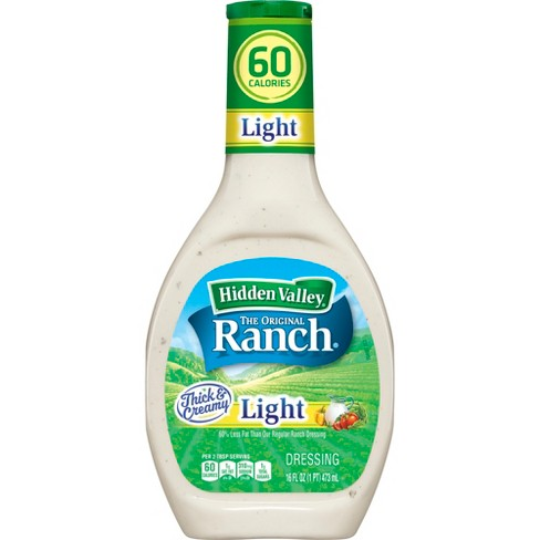 Hidden Valley Original Ranch Light Salad Dressing & Topping - Gluten Free - 16oz Bottle - image 1 of 3