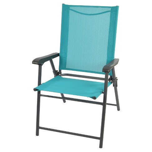 Patio Folding Chair RE 17in Turquoise - Room Essentials™ - image 1 of 1