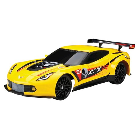 New Bright 1:12 Full Function R/C Chargers Corvette C7R, Yellow - image 1 of 2