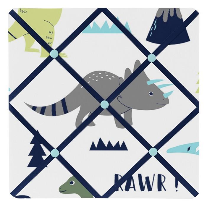 Mod Dinosaur Photo Memo Board (13x13) Blue & Green - Sweet Jojo Designs - image 1 of 2