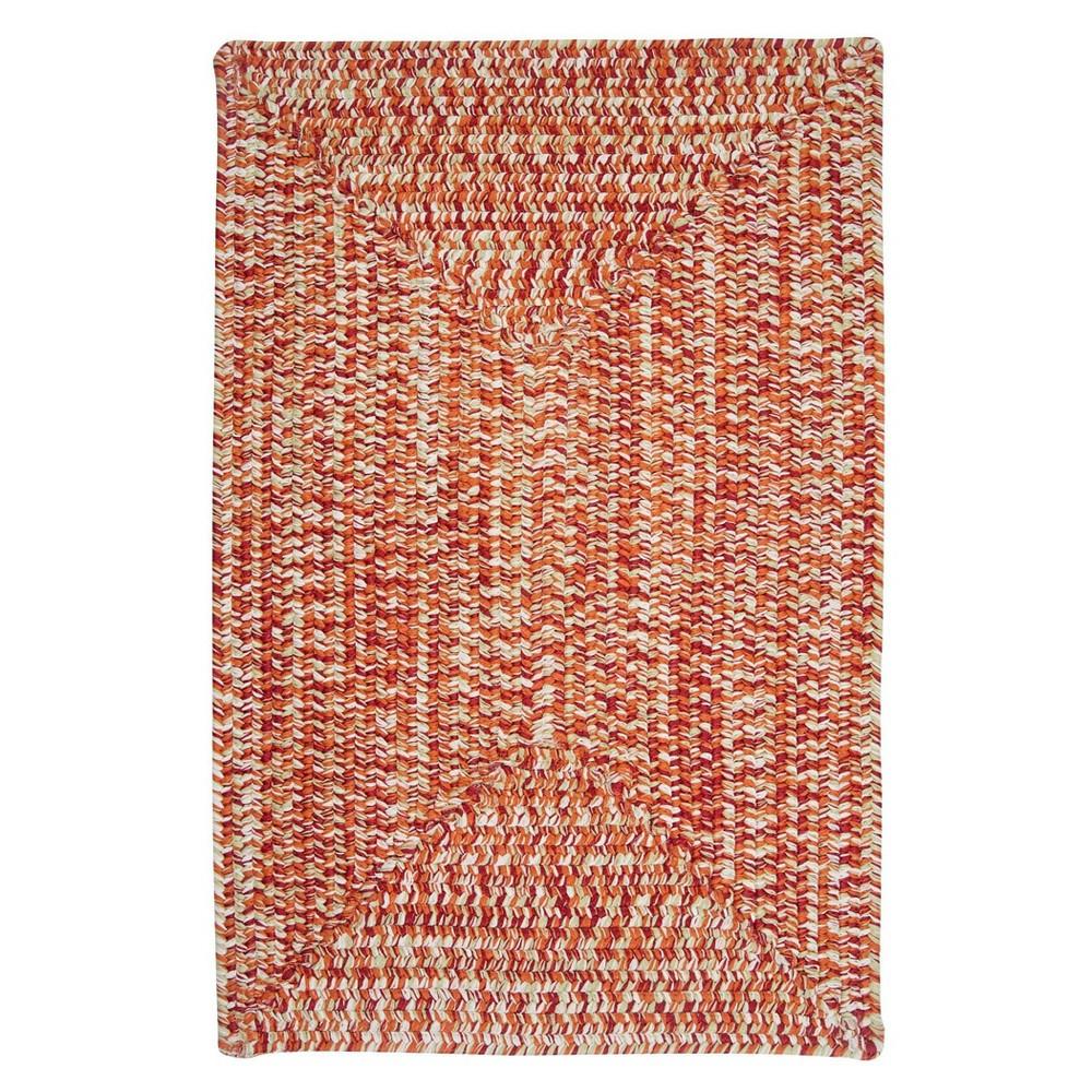 Island Tweed Braided Area Rug Red