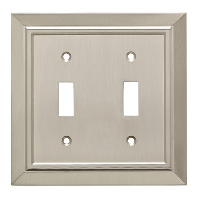 Franklin Brass Classic Architecture Double Switch Wall Plate Nickel