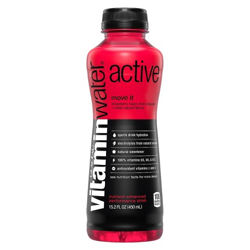 vitaminwater® Active Strawberry Black Cherry - 15.2 fl oz Bottle - image 1 of 1