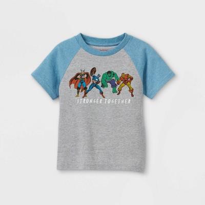 Toddler Boys' Marvel Short Sleeve Graphic T-Shirt - Gray