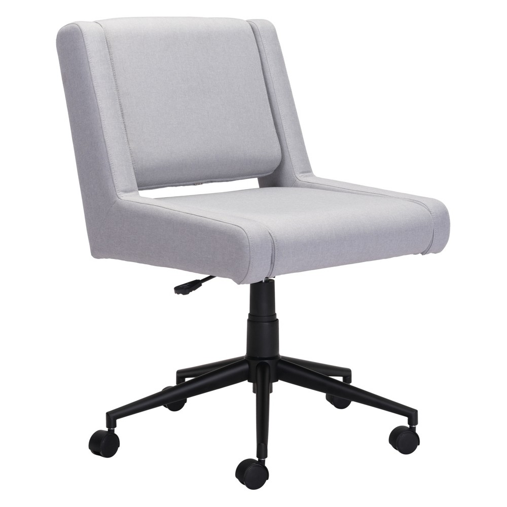 Adjustable Executive Office Chair Light Gray - ZM Home