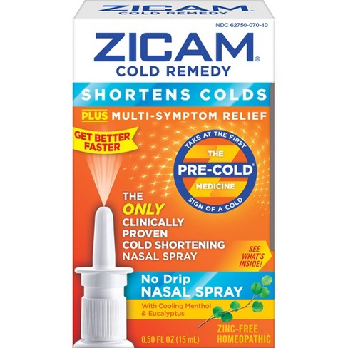Zicam Cold Remedy Nasal Spray - Cooling Menthol & Eucalyptus - 0.5 fl oz - image 1 of 1