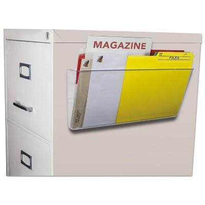 Storex Unbreakable Magnetic Wall File Letter/Legal 16 x 7 Single Pocket Clear 70325U06C