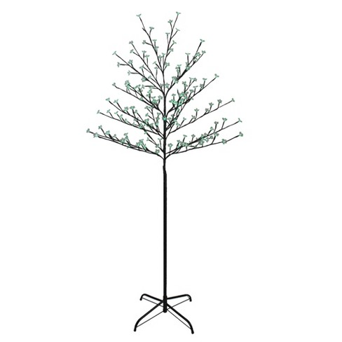 Northlight 6' Pre-Lit Cherry Blossom Flower Artificial Tree - Green LED Lights - image 1 of 4