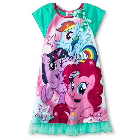 Girls' My Little Pony Nightgown - Blue M - image 1 of 1