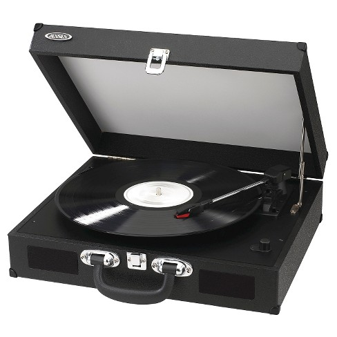 JENSEN Portable 3-Speed Stereo Turntable with Built-in Speakers - Black (JTA-410 ) - image 1 of 3
