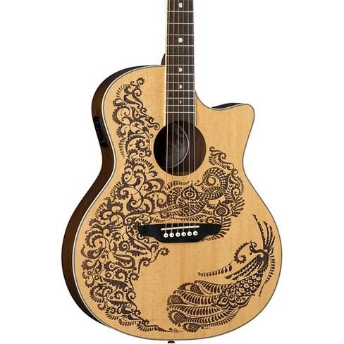 Luna Guitars Henna Paradise Select Spruce Acoustic-Electric Guitar Satin Natural - image 1 of 4