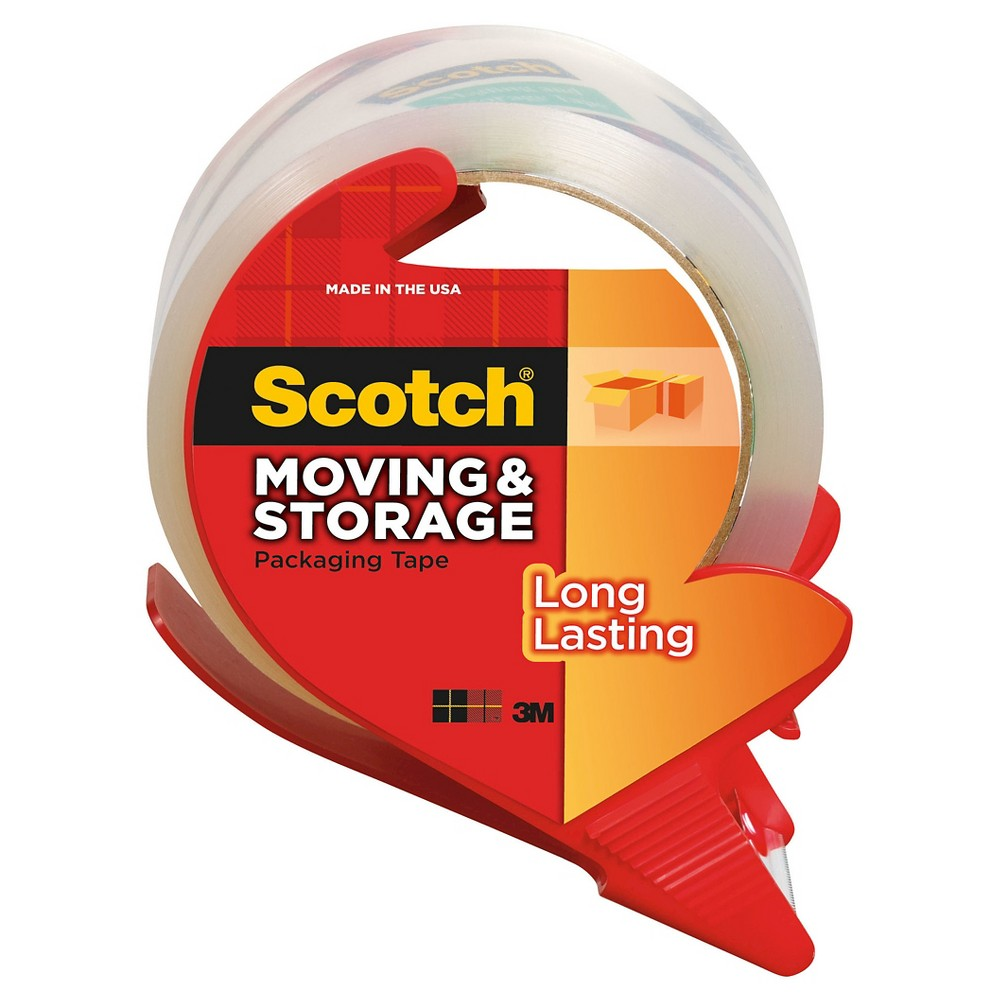 Scotch Moving and Storage Packaging Tape with Dispenser, 1.88 x 54.6yds