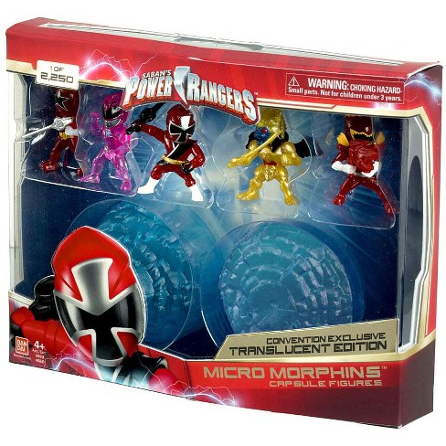Power Rangers Micro Morphins Capsule Figures Black Ranger