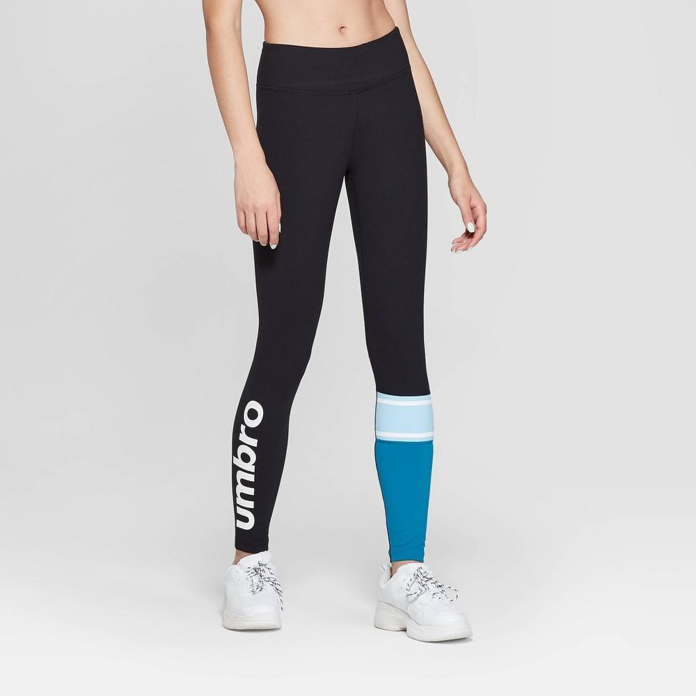 Umbro Mid-Rise 7/8 Ankle Leggings Black M, Women's
