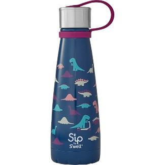 10oz Stainless Steel Dino Days Water Bottle Blue - Sip by Swell