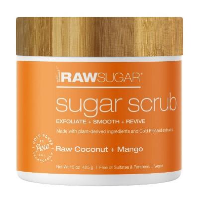 Raw Sugar Raw Coconut + Mango Sugar Scrubs - 15oz