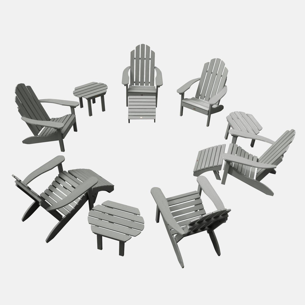 Image of 12pc Classic Westport Adirondack Patio Set Coastal Teak - highwood