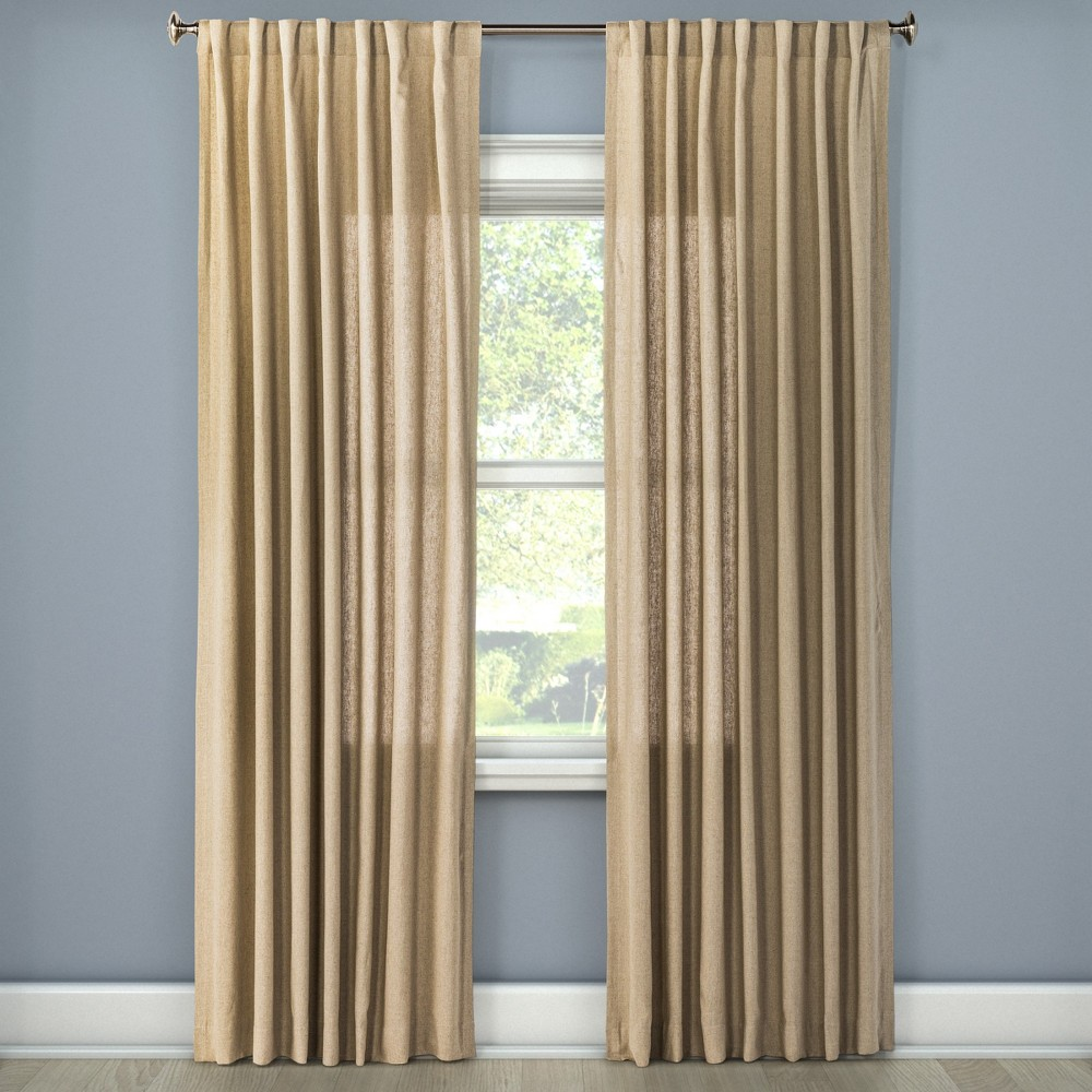 Natural Solid Curtain Panel Natural (54