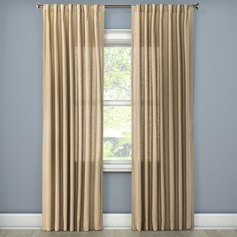 Linen Look Curtain Panel - Threshold™ - image 1 of 3